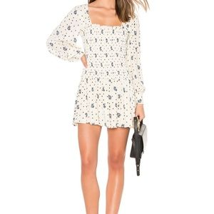 Free people two faced white floral dress